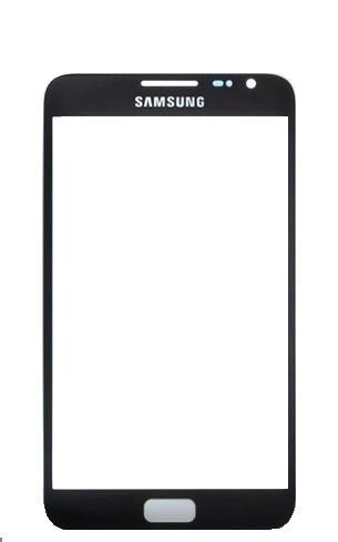 Lente Vidro sem Touch Samsung Note 1 N7000 Preto