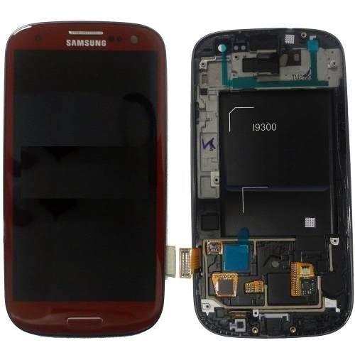 Frontal Touch e Lcd Samsung Galaxy S3 I9300  Vermelho Vinho