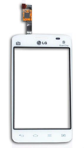 Tela Touch LG Optimus L4 2 E445 E467 Branco - 1ª Linha