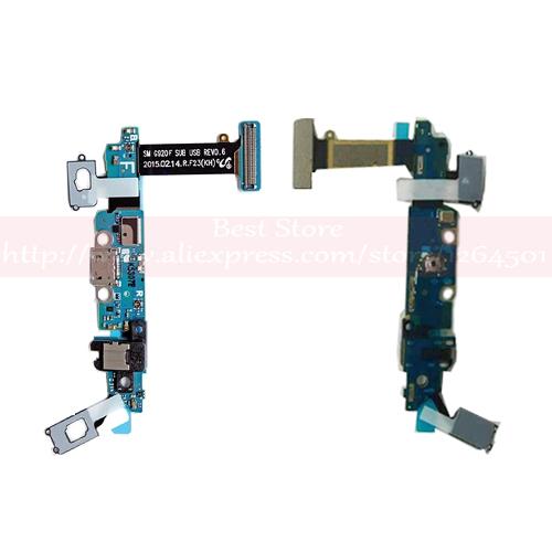 Flex Com Conector de Carga Jack P2 Microfone Samsung S6 Sm-G920 G920f