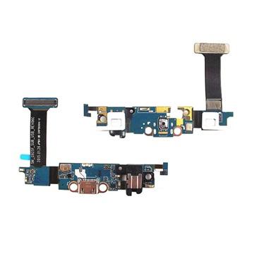 Flex Com Conector de Carga Jack P2 Microfone Samsung S6 Edge Sm-G925