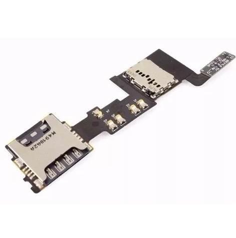 Cabo Flex Conector de Sim Card Samsung Note 2 N7100