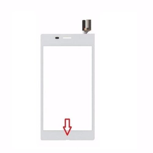 Tela Touch Sony Xperia M2 Aqua D2403 D2406 Branco