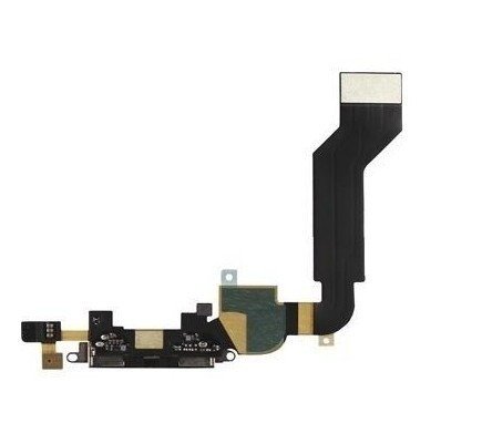 Cabo Flex Conector Carga Usb Fone Microfone Apple Iphone 4s Preto