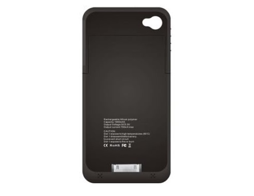 Capa Carregador Bateria Extra Apple Iphone 4s Preto