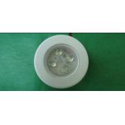 Luminária de Cabine de Embutir Pequena Branca