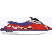 Kit Adesivo Jet Ski Kawasaki ZXI 1100 1996