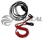 Botão de emergência e desligamento do motor Johnson/Envirude