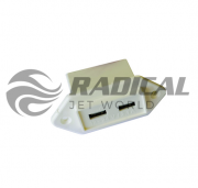 Carregador USB Náutico Branco