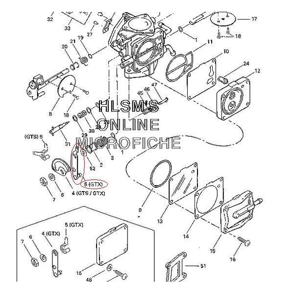 Alavanca de Acelerador Jet Ski Ssea Doo GTX94 magneto  - Radical Peças - Peças para Jet Ski