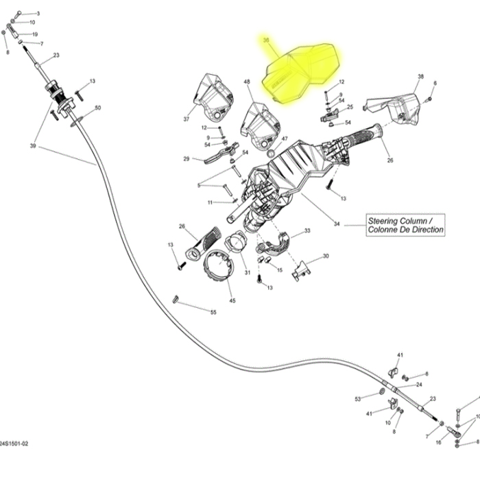Acabamento do Guidão para Jet Ski Sea Doo Spark Original 277001786  - Radical Peças - Peças para Jet Ski