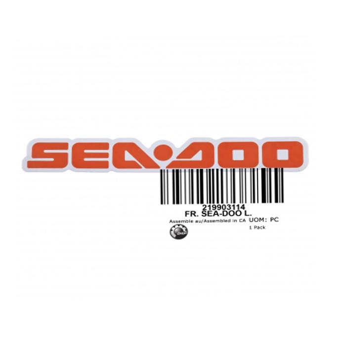 Adesivo da Tampa Frontal para Jet Ski Sea Doo GTS 2011 e GTI 2010 219903114  - Radical Peças - Peças para Jet Ski