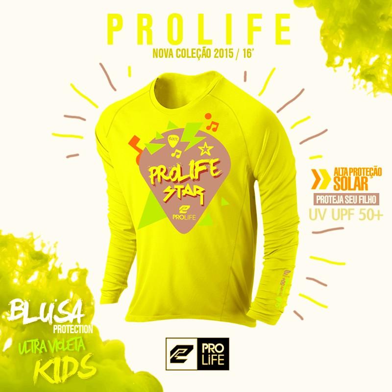 Blusa Infantil Sun Protection Prolife 02 anos - Proteção Solar UV UPF 50+  - Radical Peças - Peças para Jet Ski