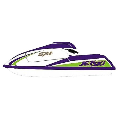 Kit Adesivo Jet Ski Kawasaki SXI 93  - Radical Peças - Peças para Jet Ski