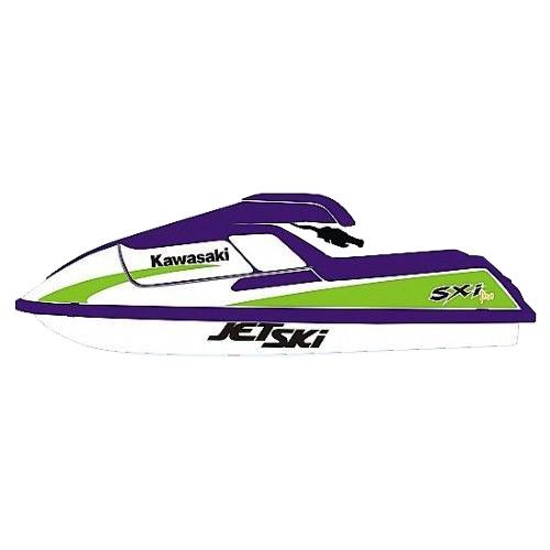 kit Adesivo Jet Ski Kawasaki SXI PRO 750 1998  - Radical Peças - Peças para Jet Ski