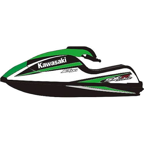 Kit Adesivo Jet Ski Kawasaki SXR 800 2008  - Radical Peças - Peças para Jet Ski
