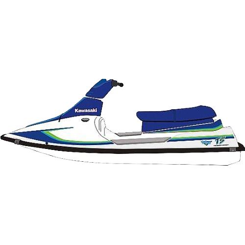 Kit Adesivo Jet Ski Kawasaki TS 92  - Radical Peças - Peças para Jet Ski