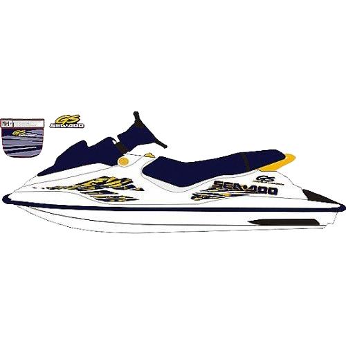 Kit Adesivo Jet Ski Sea Doo GS 1998 Azul  - Radical Peças - Peças para Jet Ski