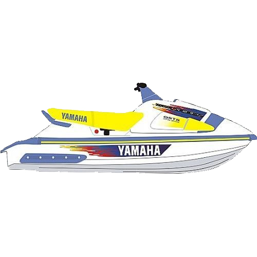 Kit Adesivo Jet Ski Yamaha Wave Raider 1997  - Radical Peças - Peças para Jet Ski