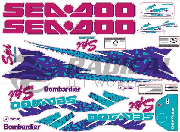 Kit Adesivo Sea Doo SPI 94  - Radical Peças - Peças para Jet Ski