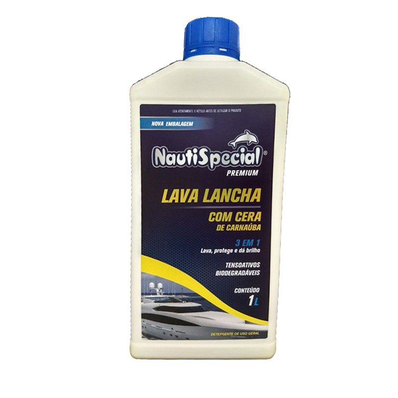 Lava Lancha e Jet ski Com Cera de Carnaúba 1 Litro NautiSpecial  - Radical Peças - Peças para Jet Ski