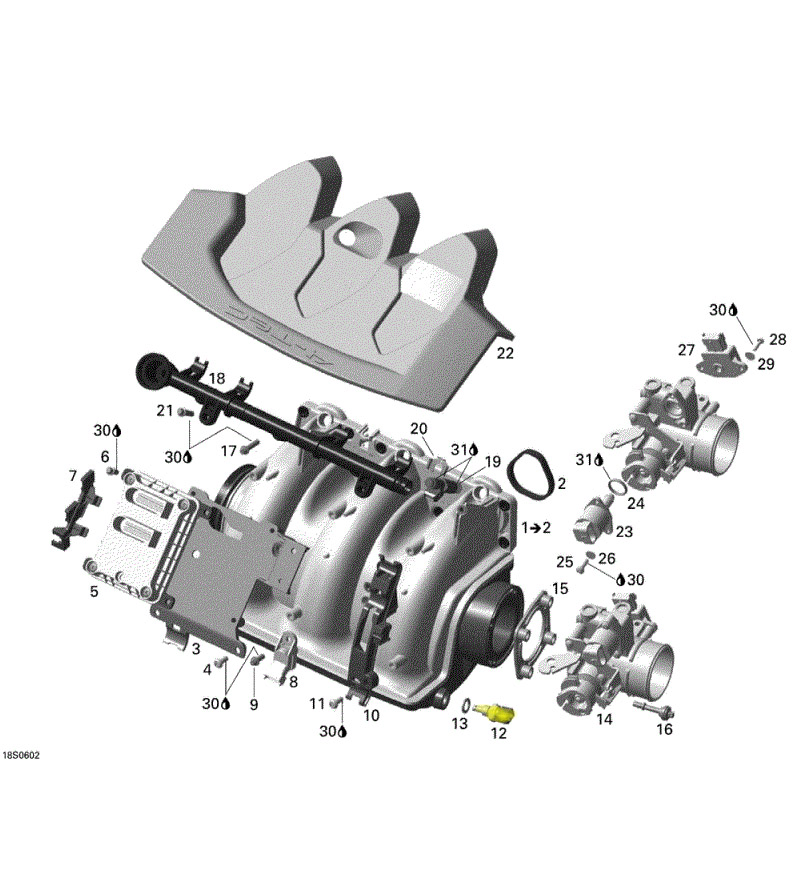 Sensor de Temperatura para Jet Ski Sea Doo 4 TEC 420222423  - Radical Peças - Peças para Jet Ski