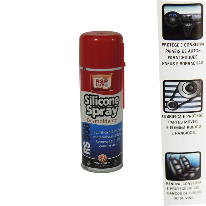 Silicone Spray Desmoldante RSP Lub 300Ml  - Radical Peças - Peças para Jet Ski