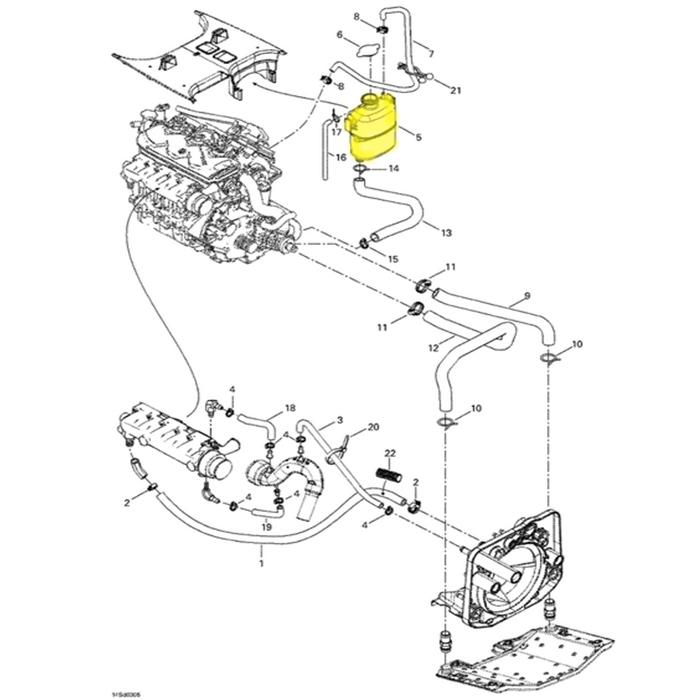 Tanque de Água para Jet Ski Sea Doo GTX/RXP/RXT 276000086  - Radical Peças - Peças para Jet Ski