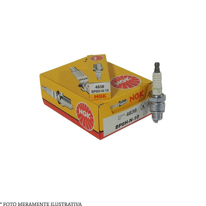 Vela BP8H-N-10 para Motor de Popa Mercury NGK (Caixa c/ 10 unidades)  - Radical Peças - Peças para Jet Ski