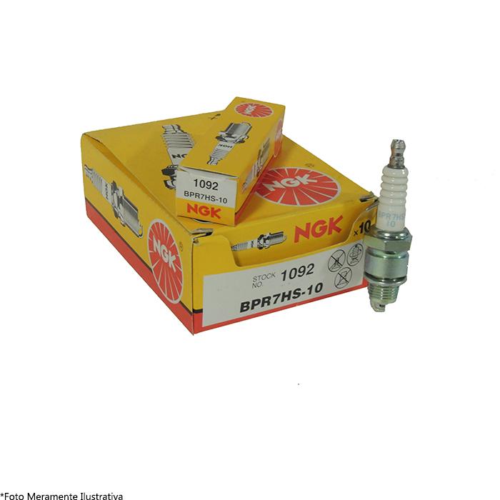 Vela BPR7HS-10 para Motor de Popa Mercury NGK (Caixa c/ 10 Unidades)  - Radical Peças - Peças para Jet Ski