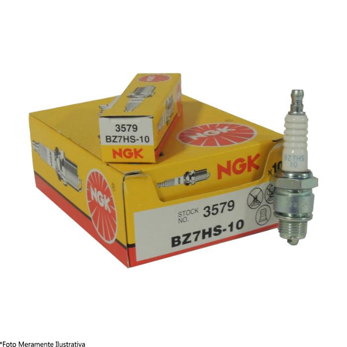 Vela BZ7HS-10 Para Motor de Popa Mercury/Evinrude/Johnson NGK (Caixa c/ 10 Unidades)  - Radical Peças - Peças para Jet Ski