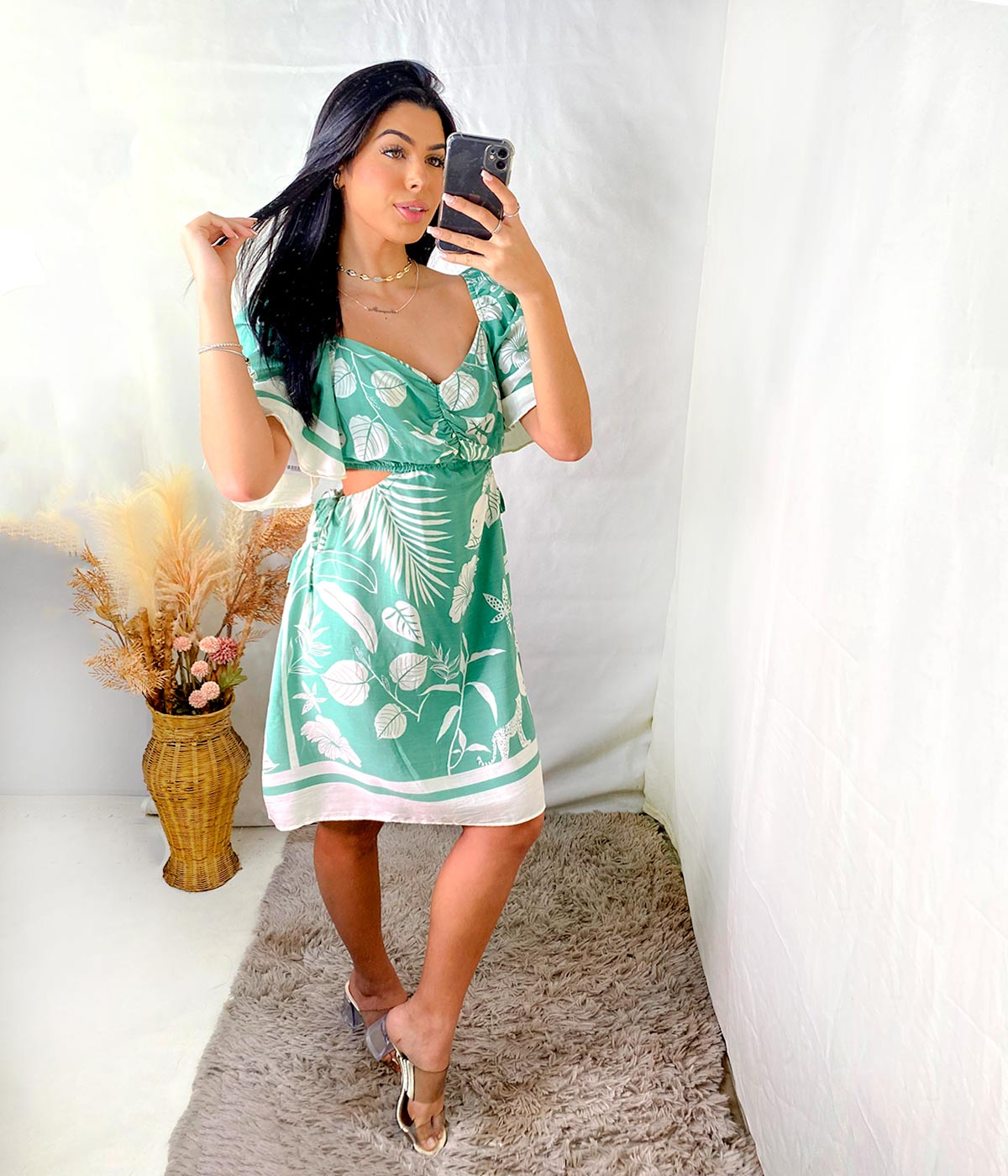 Vestido Curto Karla Verde Menta
