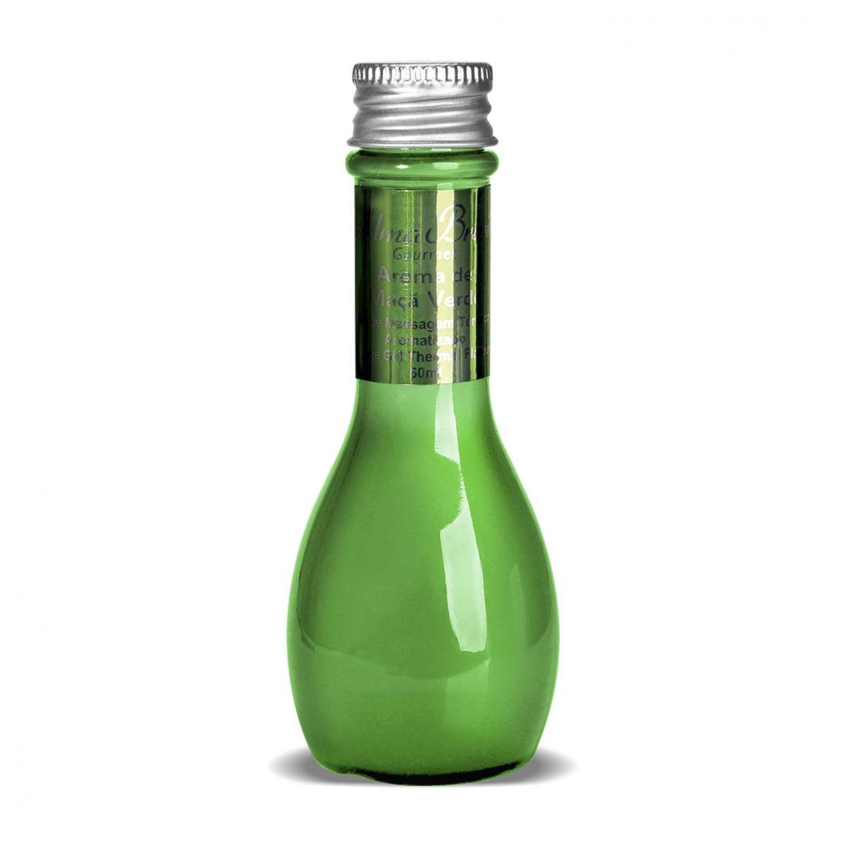 Gel de massagem térmico aromatizado lubrificante Gourmet Maca Verde 60ml  - Alma Brasil Cosméticos