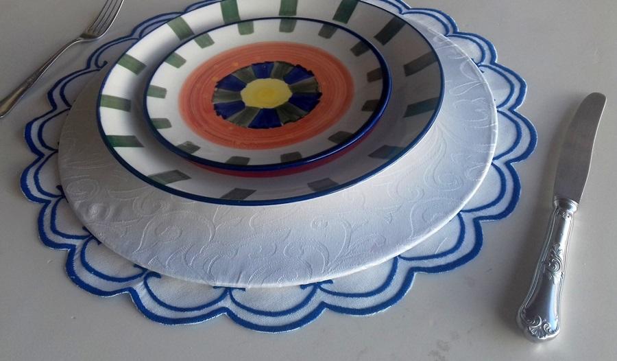 Sousplat Detalhe Azul Escuro  - Helô Reis Store