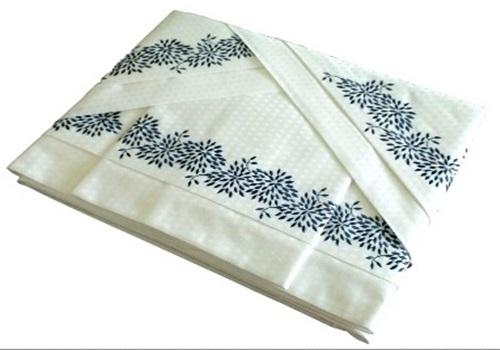 Roupa de Cama 500 fios Grano azul Quadriculado branco  - Helô Reis Store