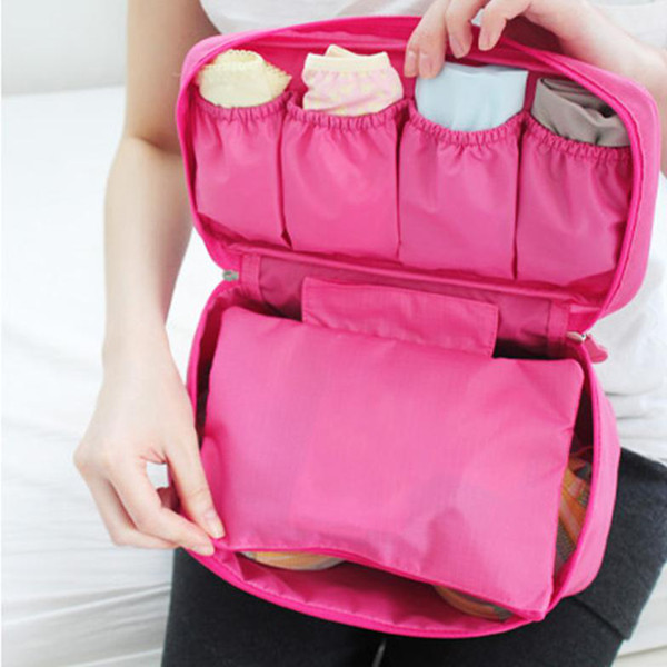 Bolsa Necessaire Unissex Portátil Viagem C/ Divisórias  Pink  - Helô Reis Store