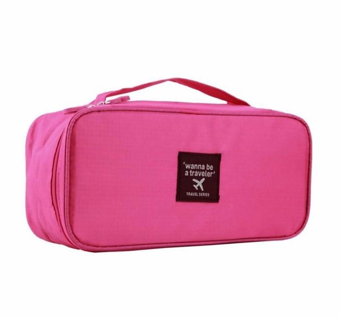 Bolsa Necessaire Unissex Portátil Viagem C/ Divisórias  Pink  - Helô Reis