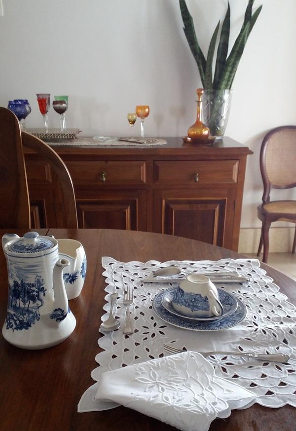 Kit Jogo Americano e Guardanapo Richelieu Branco  - Helô Reis Store