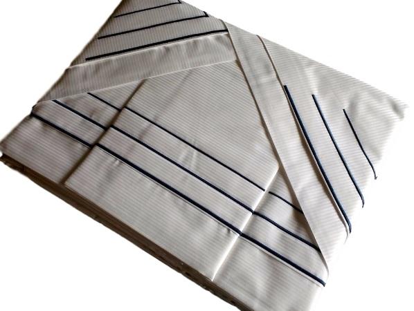 Roupa de Cama 500 fios Festonê azul marinho Adamascado branco  - Helô Reis Store