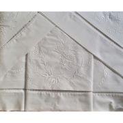 Roupa de Cama 250 fios Rosa branco