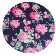 Kit 8 Capa Para Sousplat Floral azul marinho/rosa