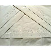 Roupa de Cama 800 fios Bordado Vettore cor Branco