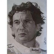 Grafite Desenho Feito a Mão - Mande sua Foto - Desenho Ayrton Senna