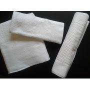Jogo de Banho Com Bordado Brasão Cor Branco Branco 5 Peças - Mande seu Brasão que Bordamos Para Você