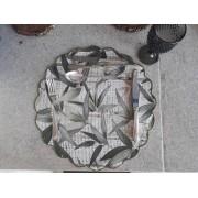 Sousplat Impermeabilizado Folhas verde Kit Com 12