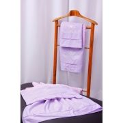 Jogo de Banho 5 peças Crivo II lilás/ branco
