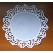 Sousplat Linho Com Crochet Branco Kit Com 12