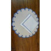 Sousplat Linho Elo azul bic Kit Com 12
