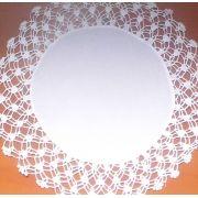 Sousplat Linho Com Crochet Yoongi Branco Kit Com 8