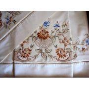 Roupa de Cama 250 fios Richelieu colorido